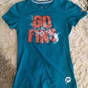 🐬🏉 MIAMI DOLPHINS FINS UP!  small ladies t-shirt